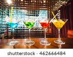 multicolored cocktails at the... | Shutterstock . vector #462666484
