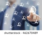 professional networking concept ... | Shutterstock . vector #462670489