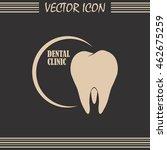 dental clinic vector icon.... | Shutterstock .eps vector #462675259