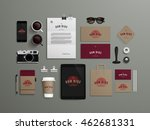 corporate identity template set ... | Shutterstock .eps vector #462681331