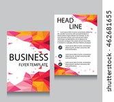 vector brochure flyer design...   Shutterstock .eps vector #462681655