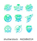 vintage label thank you text... | Shutterstock .eps vector #462686314