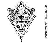 textured stylized jaguar. | Shutterstock .eps vector #462689035