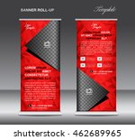 red roll up banner template ... | Shutterstock .eps vector #462689965