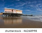 Boardwalk Pier On The Beach In...