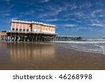 Boardwalk Pier On The Beach In...