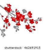 festive illustrations. branch... | Shutterstock .eps vector #462691915