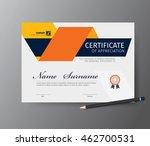 vector template for certificate ...   Shutterstock .eps vector #462700531