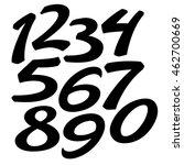vector custom design numbers set | Shutterstock .eps vector #462700669