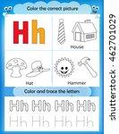 alphabet learning letters  ... | Shutterstock .eps vector #462701029