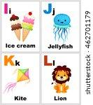 alphabet printable flashcards... | Shutterstock .eps vector #462701179