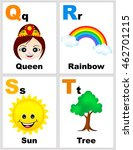 alphabet printable flashcards... | Shutterstock .eps vector #462701215