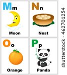 alphabet printable flashcards... | Shutterstock .eps vector #462701254