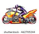 3d cg rendering of a super woman | Shutterstock . vector #462705244