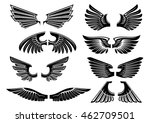 heraldic wings of angel or bird ... | Shutterstock .eps vector #462709501
