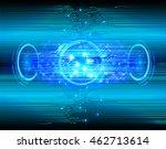 blue eye abstract cyber future... | Shutterstock . vector #462713614