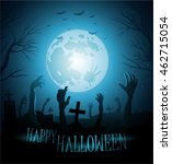 halloween background with... | Shutterstock .eps vector #462715054