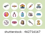 Stock vector pets icons set 462716167