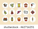 chinese new year icons set | Shutterstock .eps vector #462716251
