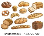 bread sorts and bakery icons.... | Shutterstock .eps vector #462720739