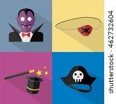 halloween icons set   Shutterstock .eps vector #462732604