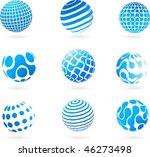 a set of different 3d globes  ...   Shutterstock .eps vector #46273498