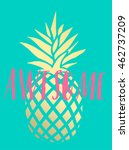 summer hand drawn calligraphic... | Shutterstock .eps vector #462737209