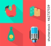 finance and banking icons set | Shutterstock .eps vector #462737539