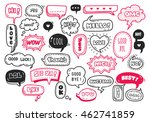 set of cute speech bubble with... | Shutterstock .eps vector #462741859