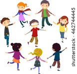 stickman illustration of... | Shutterstock .eps vector #462744445