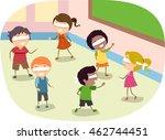 stickman illustration of... | Shutterstock .eps vector #462744451
