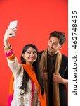 indian sister taking selfie...   Shutterstock . vector #462748435