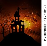 halloween haunted house with... | Shutterstock .eps vector #462748474