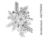 flower doodle drawing freehand...   Shutterstock .eps vector #462750445