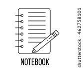 notebook icon or logo line art... | Shutterstock .eps vector #462758101