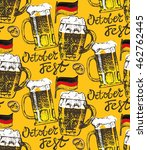 october fest. vector beer... | Shutterstock .eps vector #462762445