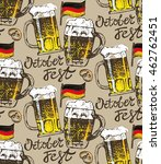 october fest. vector beer... | Shutterstock .eps vector #462762451