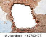 hole brick wall | Shutterstock . vector #462763477