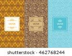 vector set of design elements... | Shutterstock .eps vector #462768244