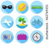 traveling flat icon set....