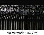 Old Royal Typewriter Keys