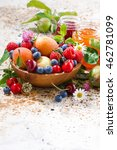 seasonal fruits and berries ... | Shutterstock . vector #462781099