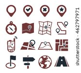 location  position icon set   Shutterstock .eps vector #462797971