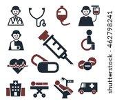 medicine  medical icon set | Shutterstock .eps vector #462798241