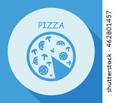 pizza  icon. | Shutterstock .eps vector #462801457