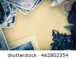 vintage still life with old... | Shutterstock . vector #462802354