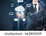 double exposure of professional ... | Shutterstock . vector #462803209