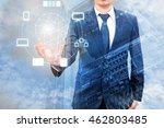 double exposure of professional ... | Shutterstock . vector #462803485