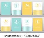 set of birthday cards poster... | Shutterstock .eps vector #462805369