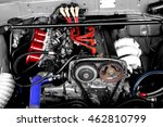 racing car engine block with...   Shutterstock . vector #462810799